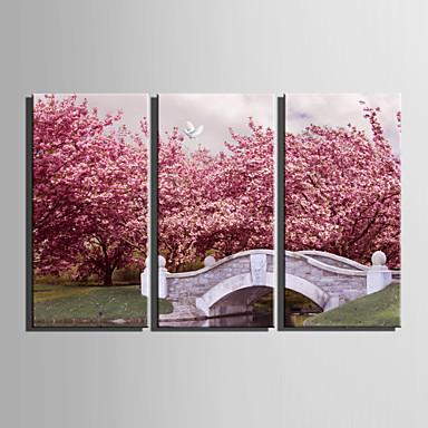 Landschap Europese Stijl, Drie panelen Kangas Verticaal Print Muurdecoratie Huisdecoratie