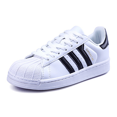 Sneakers-Mikrofiber-Komfort-Herre-Sort Guld Sort og Hvid-Udendørs Fritid Sport-Flad hæl
