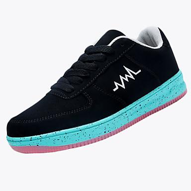 Sneakers-Syntetisk-Komfort-Herre-Blå Grøn Hvid Oliven-Fritid-Flad hæl