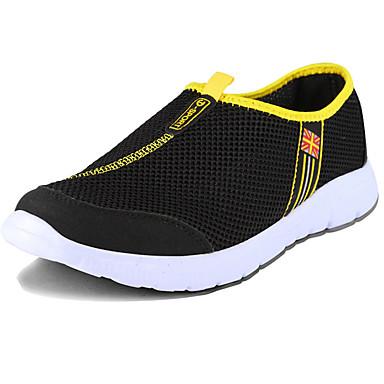Sneakers-Tyl-Komfort-Herre-Sort Blå Grå-Udendørs Fritid Sport-Flad hæl