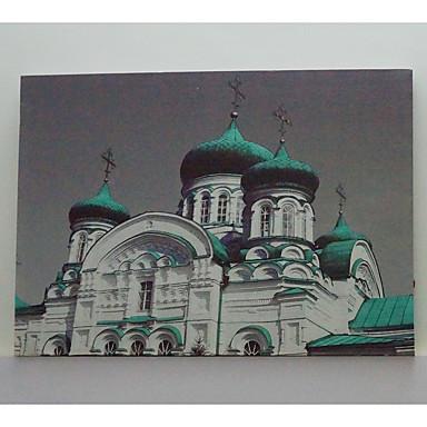 Maisema Kehystetty taidepainate Wall Art,Keskitiheä puukuitulevy materiaali Maalattu Ei taustalevyä Frame For Kodinsisustus Frame Art