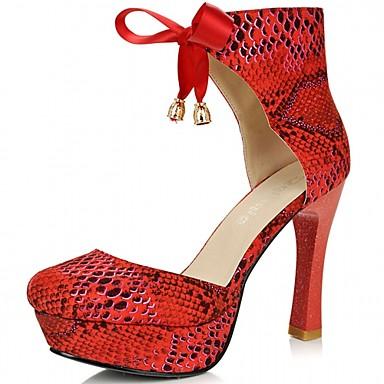 Feminino Sapatos Sintético Couro Envernizado Courino Primavera Verão Outono Inverno Conforto Inovador Plataforma Básica Saltos Caminhada