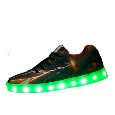 Uniseks Schoenen Tule Lente Zomer Comfortabel Oplichtende schoenen Sneakers Veters Voor Causaal Zwart