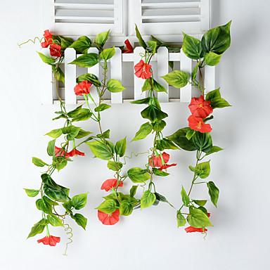 1 1 Tak Polyester / Kunststof Overige Bloemen voor op de muur Kunstbloemen 90.5inch/230cm