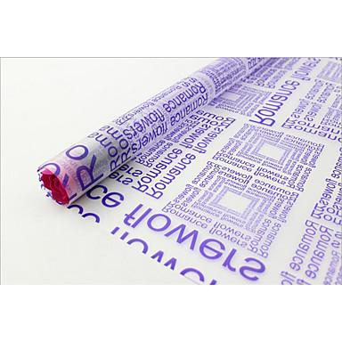 英語紙印刷用紙の光霧すりガラスの紙包装材の漫画の花束の花