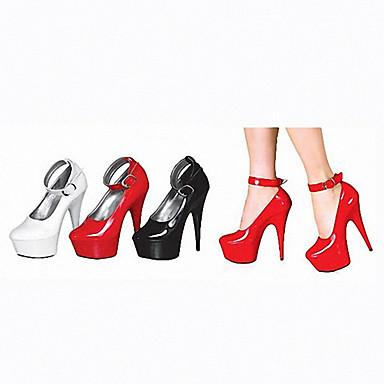 cristal Cuir de Chaussures Mariage Verni Femme Automne 05176157 Lumineuses Noir Chaussures Talons club Noir Plateau Talon à Talon Aiguille Chaussures blanc Chaussures Rouge Printemps fqw5qTF