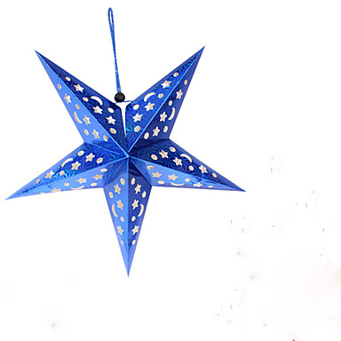 1pc førte tilfældig farve julegave boligindretning stjerne nat lys