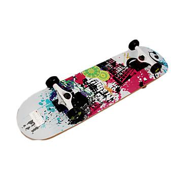 Bordo Crianças Skates completos Branco Preto