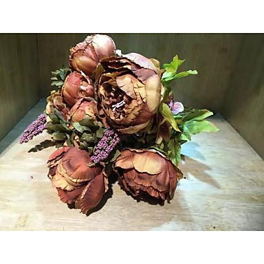 Polyester Bryllup Dekorationer-1piece / Set Kunstig blomst Bryllup Eventyrtema Lyserød / Perlerosa / Rød / NøgenForår / Sommer / Efterår