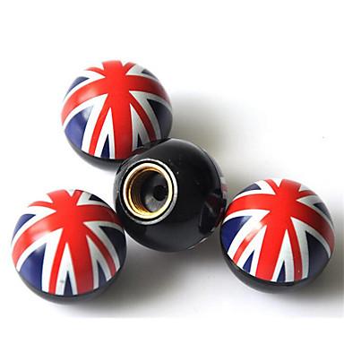 bandeira da tampa da válvula unida válvula de ar reino da válvula da tampa / pneu de carro cap / alteração de personalidade