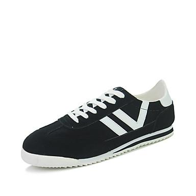 Sneakers-Læder Ruskind-Komfort-Herre-Blå Rød Beige-Udendørs Fritid Sport-Flad hæl