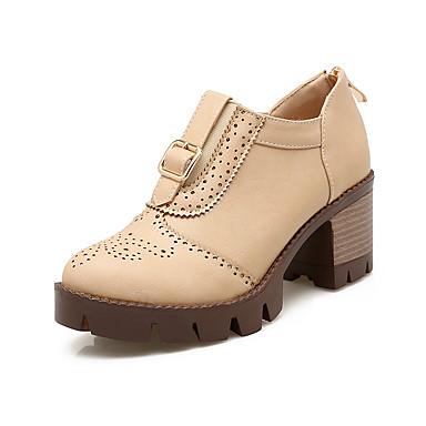 Damen Schuhe Kunstleder Herbst Winter Springerstiefel Modische Stiefel Stiefel Blockabsatz Booties / Stiefeletten Schnalle Für Normal