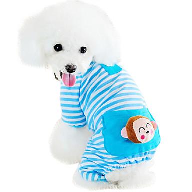 Kat Hund Kjeledresser Pyjamas Hundeklær Tegneserie Gul Blå Rosa Bomull Kostume For kjæledyr Herre Dame Søtt Fritid/hverdag