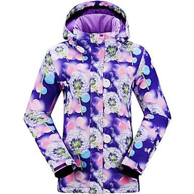 Roupa de Esqui Jaquetas de Esqui/Snowboard Mulheres Roupa de Inverno Poliéster Vestuário de InvernoTérmico/Quente A Prova de Vento