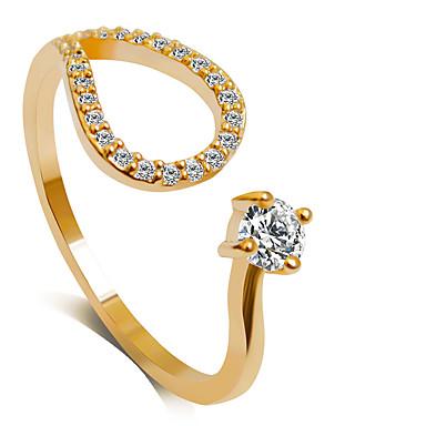 Dames Statement Ring , Zilver Gouden Legering Prinsessa Klassiek Modieus Bruiloft Feest Feest / Uitgaan Kostuum juwelen