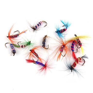 12 stk Kunstaas Vliegen Zacht Aas Veer Koolstofstaal Zeevissen Vliegvissen Aas Uitzoeken Algemeen Vissenalgemeen Vissen Met Aas