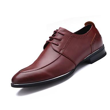 Oxford-kengät-Tasapohja-Miesten-Mokkanahka-Musta Ruskea Punainen-Toimisto Rento
