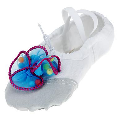 Ballettsko Tekstil Flate Imitasjonsperle Flat hæl Kan ikke spesialtilpasses Dansesko Fuksia / Blå / Rosa / Innendørs