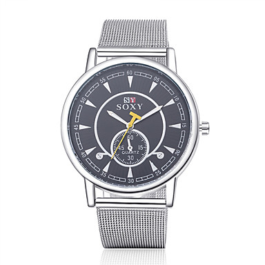 Homens Relógio Elegante Relógio de Moda Quartzo / Lega Banda Vintage Casual Prata