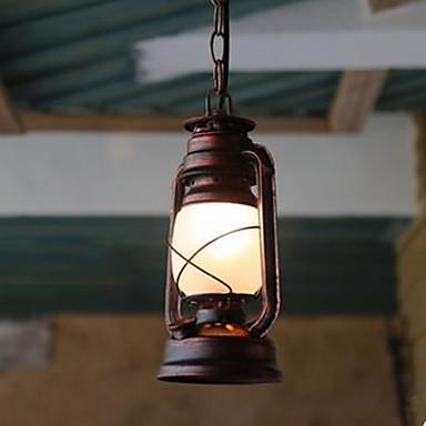 Farol Lámparas Colgantes Luz Ambiente Otros Metal Vidrio LED 110-120V / 220-240V Amarillo Bombilla no incluida / E26 / E27