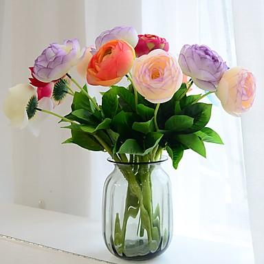 1 1 Afdeling Polyester / PU Roser Bordblomst Kunstige blomster 15.35inch/39cm