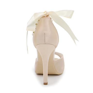Automne Evénement Talon Femme Imitation Doré Printemps Ivoire amp; Sandales Soirée 05136306 Satin Aiguille Mariage Eté Chaussures Champagne Perle nqIwqpa