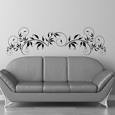 Bloemen Muurstickers Vliegtuig Muurstickers Decoratieve Muurstickers, Vinyl Huisdecoratie Muursticker Wand