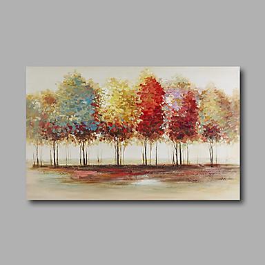 Pintura a Óleo Pintados à mão - Abstrato Paisagem Modern Tela de pintura