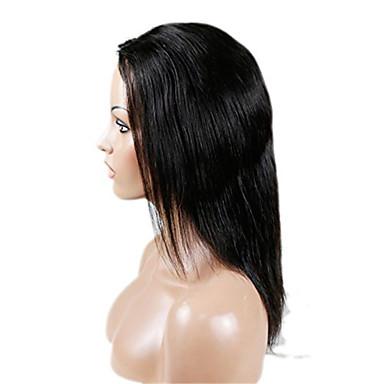 Kvinder Blondeparykker med menneskehår Ekte hår U-del 130% tetthet Rett Parykk Jet Svart Svart Mørkebrun Mellombrun Naturlig Farge Kort