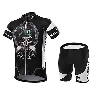 Malciklo Maillot de Ciclismo con Shorts Hombre Manga Corta Bicicleta Sets de Prendas Ropa para Ciclismo Secado rápido Cremallera