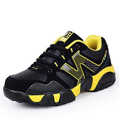 Drenge Sneakers Komfort Mikrofiber Efterår Atletisk Basketball Komfort Snøring Flad hæl Gul Grøn Blå Flad
