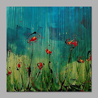 Hang-Painted Oliemaleri Hånd malede - Blomstret / Botanisk Klassisk / Europæisk Stil / Moderne Lærred