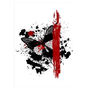Tatoveringsklistermærker Totem Serier Ikke Giftig Mønster Halloween Nederste del af ryggen VandtætDame Herre Voksen Flash tatovering