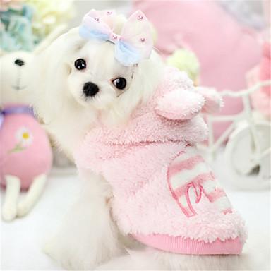 Hund Kapuzenshirts Hundekleidung Lässig/Alltäglich Massiv Tier Blau Rosa