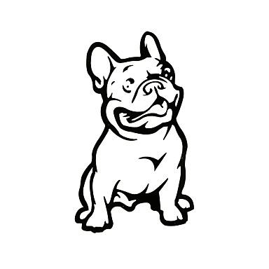 ziqiao moda carros carro do cão buldogue francês adesivo pet decalque intempéries carro auto etiquetas dos desenhos animados