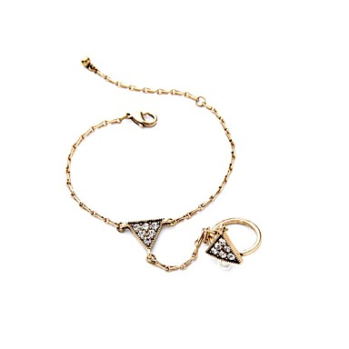 Dame Kæde & Lænkearmbånd Ringarmbånd Mode Europæisk Legering Rund form Bronze Smykker For 1 Stk.