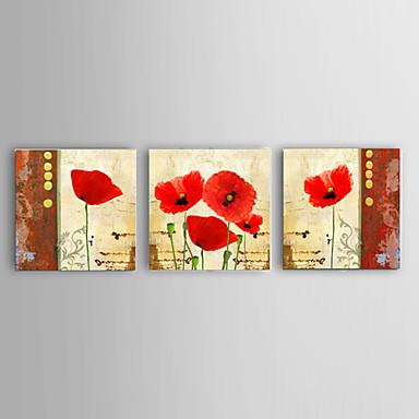Handgeschilderde Abstract / Landschap / Stilleven / Bloemenmotief/Botanisch / Fantasie Olie schilderijen,Modern / Pastoraal / Europese