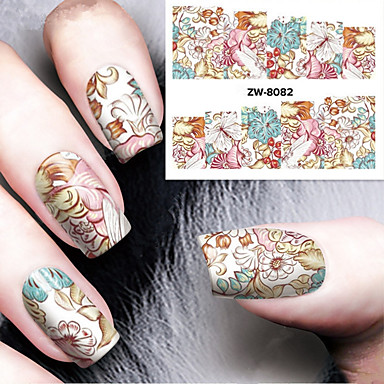 1pcs Wateroverdracht Sticker Nagelstempelsjabloon Nail Art Design Dagelijks Klassiek Hoge kwaliteit