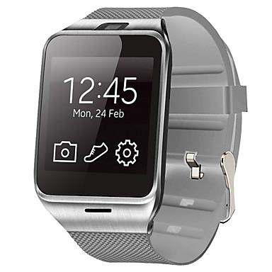 Herre Smartur Digital Touch-skærm Alarm Kalender Gummi Bånd Digital Sort / Hvid - Hvid Sort / Fjernbetjening / Skridttællere / Træningsmålere / Stopur