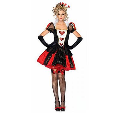 Fantasias de Cosplay Anjo e Diabo Vampiros Festival/Celebração Trajes da Noite das Bruxas Vintage Vestido Luvas Decoração de CabeloDia