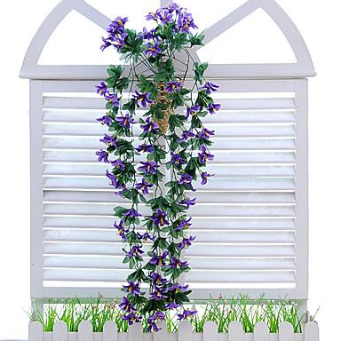 Flores artificiais 1 Ramo Estilo Moderno Lírios Guirlandas & Flor de Parede