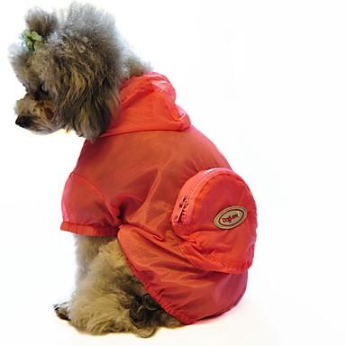 Kat Hund Regnfrakk Hundeklær Ensfarget Grønn Blå Rosa Blandet Materiale Kostume For kjæledyr Herre Dame Fritid/hverdag