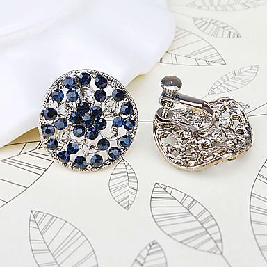 Øredobber Mote Brude imitasjon Diamond Legering Rund Form Blå Smykker Til Bryllup Daglig Avslappet 1 par