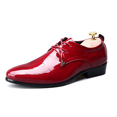 Herre sko Lakklær Vår Høst Komfort Oxfords Svart Rød