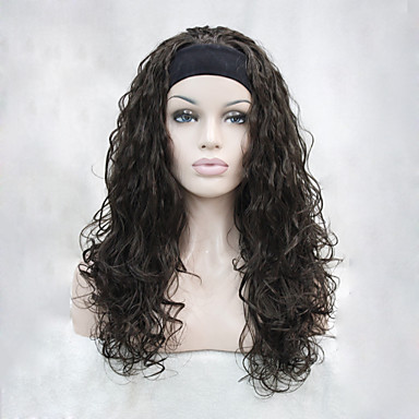 Synthetische Perücken Wellen Synthetische Haare Braun Perücke Damen Kappenlos