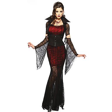 Cosplay Kostüme Party Kostüme Vampire Fest/Feiertage Halloween Kostüme Spitze Rock Ärmel Gürtel Halskette Halloween Frau Elasthan Terylen
