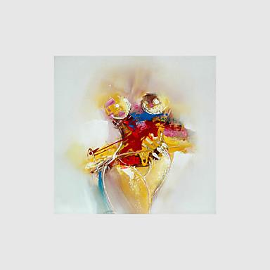 Handgeschilderde Abstract / Mensen / Naakt Olie schilderijen,Modern Eén paneel Canvas Hang-geschilderd olieverfschilderij For