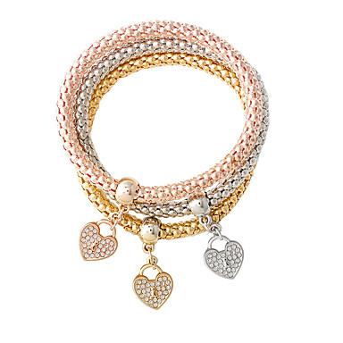 Dame Hjerte Vedhend Armband - Mote Gull / Sølv Armbånd Til