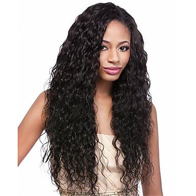Menneskehår Helblonde Paryk Krøllet 130% Massefylde 100 % håndbundet Afro-amerikansk paryk Natural Hairline Kort Medium Lang Dame