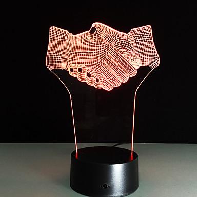 1pc aanraking 3 d geleid kleurrijke visie lamp gift sfeer bureaulamp van kleur veranderen nachtlampje